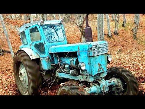 Трактор Т-40АМ Работа в лесу | Буксует в грязи |
