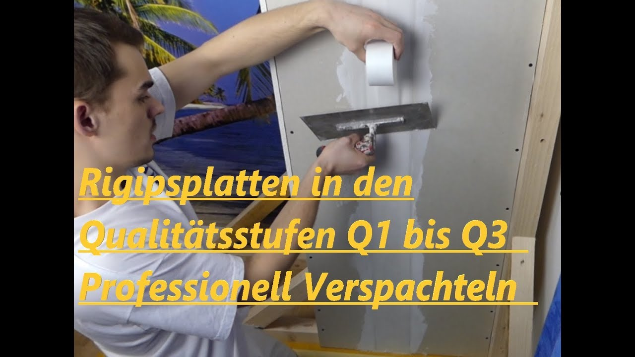 so geht's rigipsplatten verspachteln in den qualitätsstufen q1 - q3