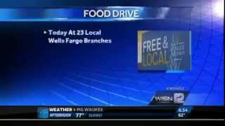 Take your food donation to the bank... at Wells Fargo!