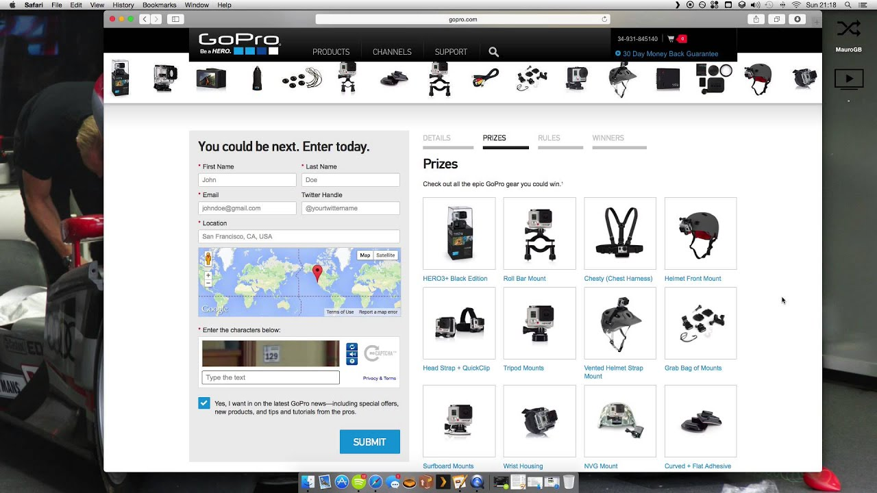 Go pro daily giveaway