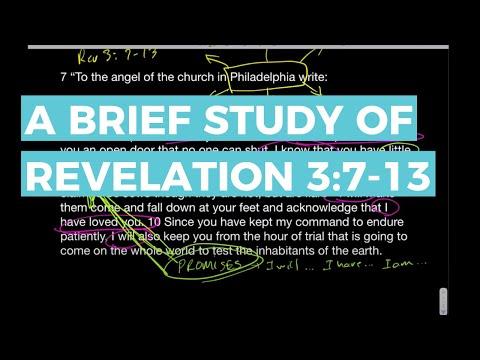 Revelation 3:7-13 study - Philadelphia