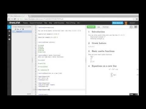 LaTeX video tutorial for beginners (video 3) - Overleaf, Online