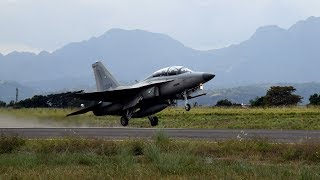 US Air Force F-16 Arrival from Korea For  Philippine Air Force  Air Operation Combat Training