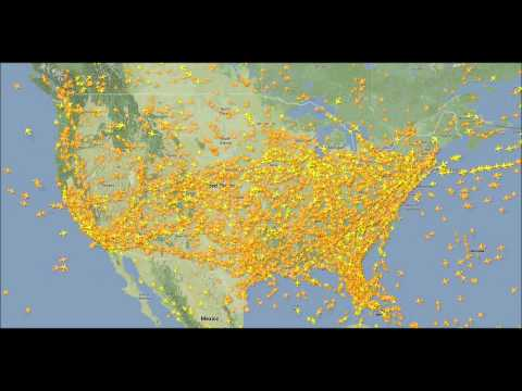 US Thanksgiving Airspace Timelapse 2013