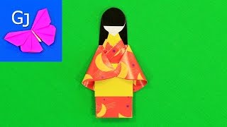 как сделать японку из бумаги