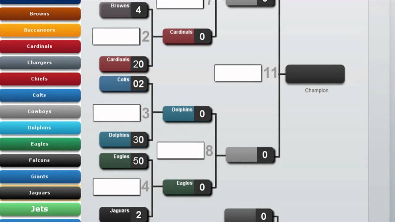8 And 12 Team Tournament Brackets And Draws Demo Youtube