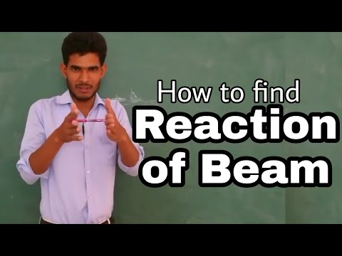 How to find Reaction of Beam by Nooruddin...