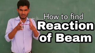 How to find Reaction of Beam by Nooruddin Khan | Mechanics in hindi | Study Channel