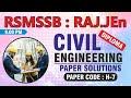 RSMSSB JEn  Civil Engineering Paper Detailed Solution  (Offline Test Series - Diploma) H-7