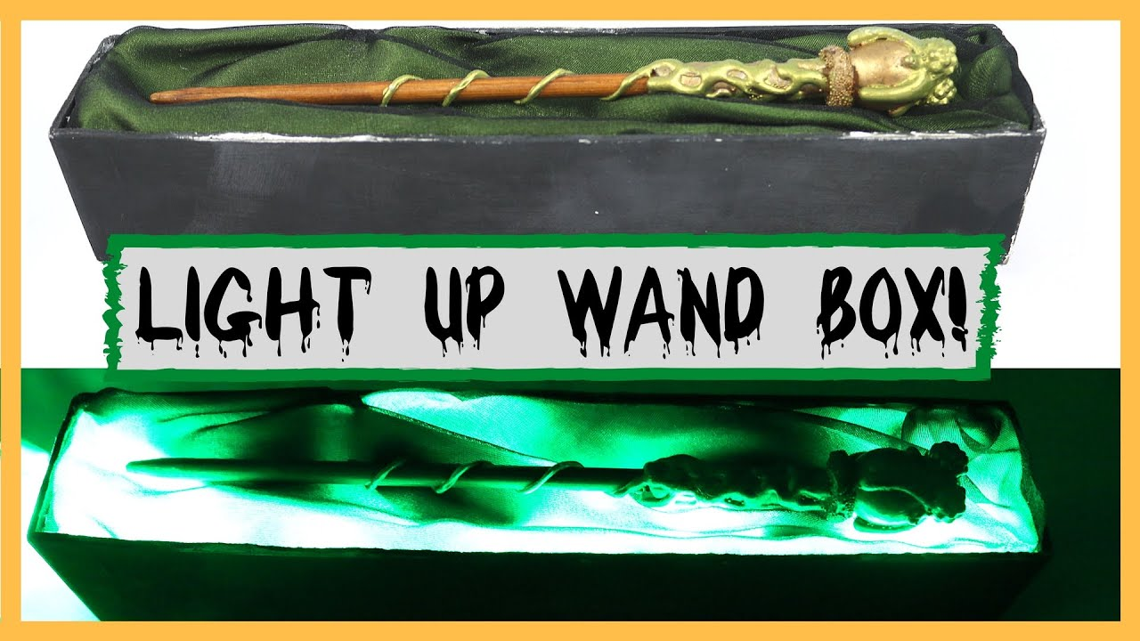 Diy Harry Potter Wand Box Tutorial Part 3 Easy Light