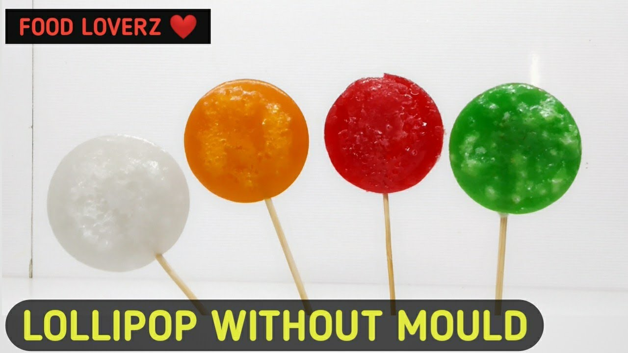 homemade lollipop recipe without mould - food loverz - yashik