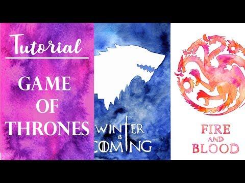Tutorial acuarela - Juego de tronos - Game of thrones thumbnail