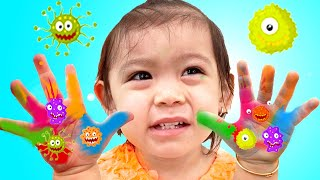 Baby Maddie Pretend Play Wash Your Hands | Kid Stories About Washing Hands