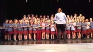 Mid-year Music Showcase - Choir performing