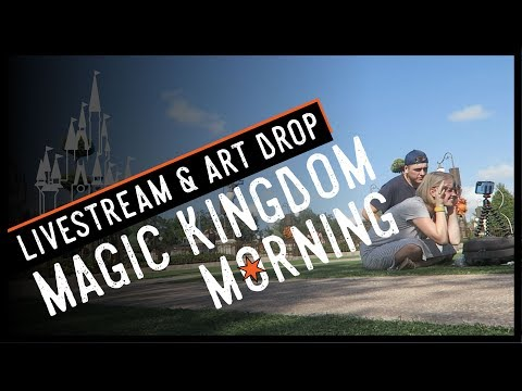 We Don't Usually Get to Do This! | Magic Kingdom Morning Livestream & Art Drop
