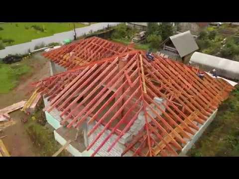 Строительство дома из газоблока с утеплением (1 сезон)