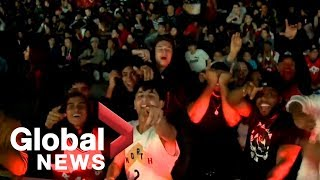NBA Finals: 20,000 Raptors fans fill Mississauga's Jurassic Park West