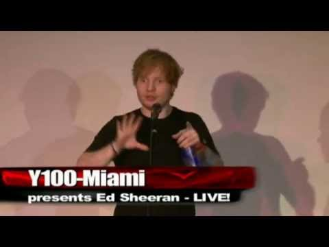 Ed Sheeran - Full Performance and Q&A for Y100 Miami (April 11 2013)