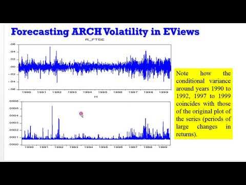 (EViews10) - How To Forecast ARCH Volatility #arch #forecasting #volatility #econometrics #modeling