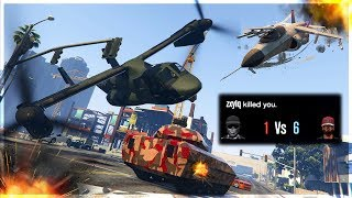 DESTROYING JET AND OPPRESSOR CHUMPS WITH AN AVENGER!! (GTA 5 Online)