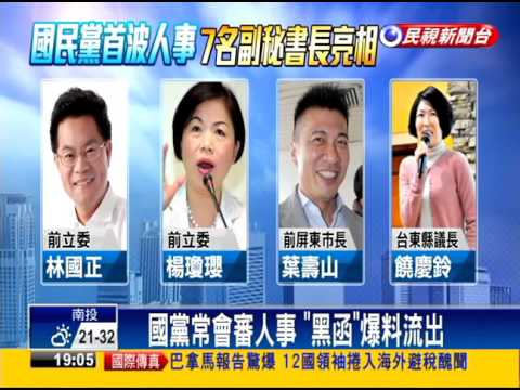 國黨七位副秘書長  中南部青壯派領軍-民視新聞
