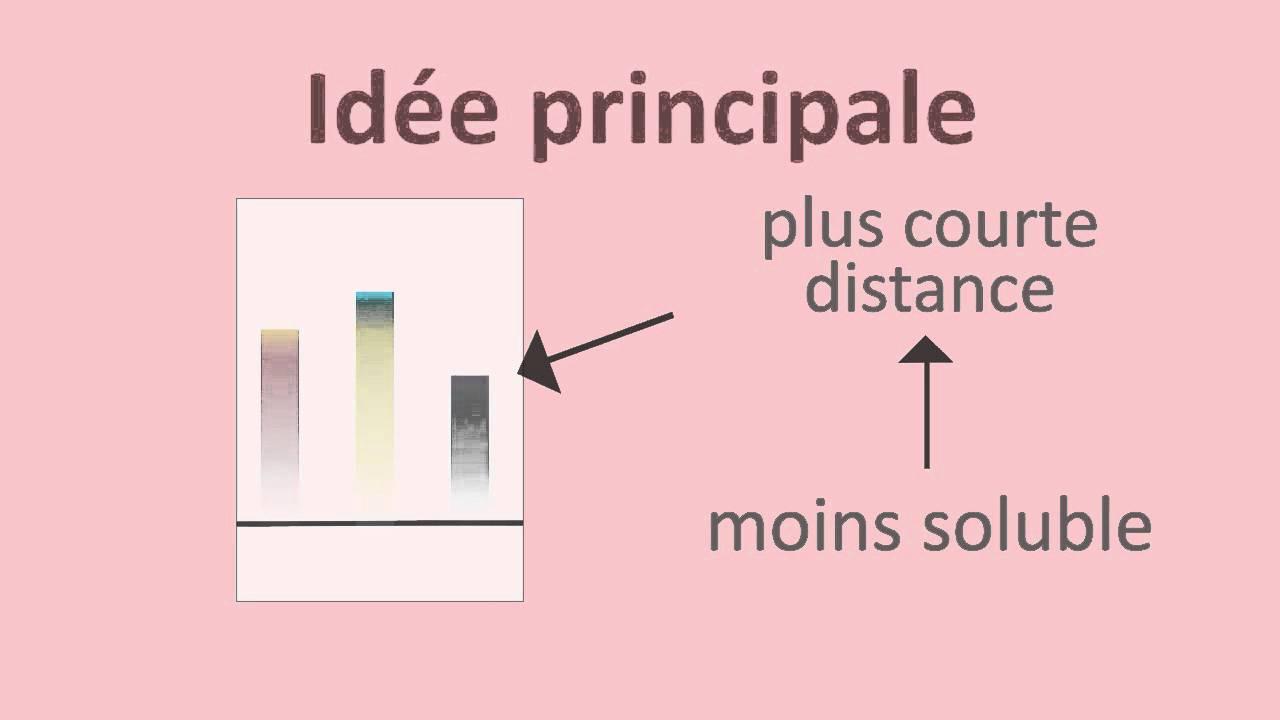 Chromatographie Sur Papier Et Sur Couche Mince Fuseschool