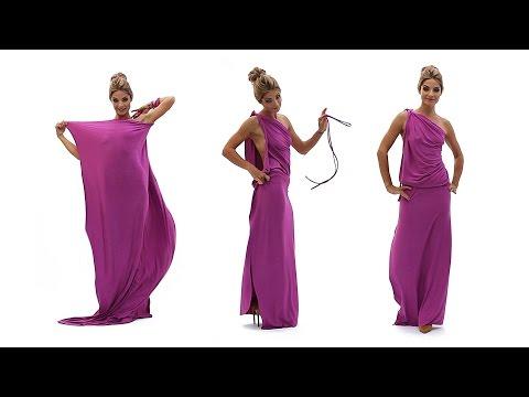 Платье в греческом стиле на одно плечо (платье-трансформер Лунги)