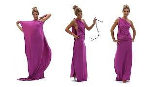 Платье в греческом стиле на одно плечо (платье-трансформер