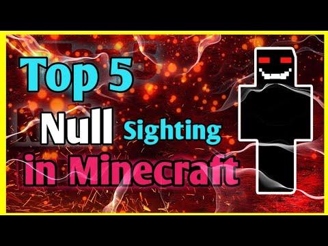 top 5 null sightings in Minecraft   Minecraft creepypasta in Hindi   Indian gamer