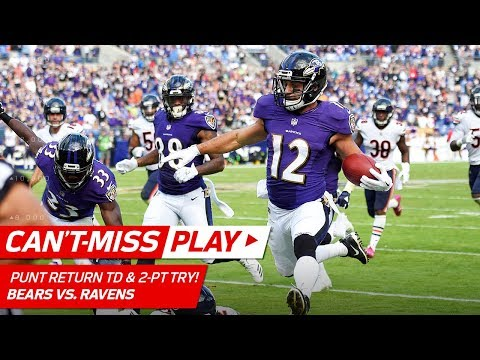 Ravens Go to OT w/ Punt Return TD & One-Handed Catch on Two-Point Try! | Can't-Miss Play | NFL Wk 6