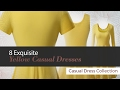 8 Exquisite Yellow Casual Dresses // Amazon Fashion Casual Dress Collection