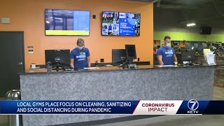Local gyms place focus on cleaning, sanitizing and social distancing