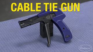 How to Tighten & Cut Cable Ties with One Squeeze! The Professional Cable Tie Gun - Eastwood