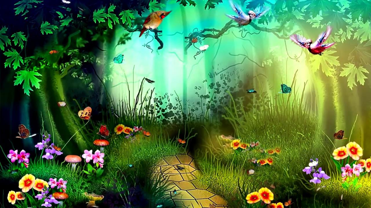 Детские картинки анимашки сказочный лес