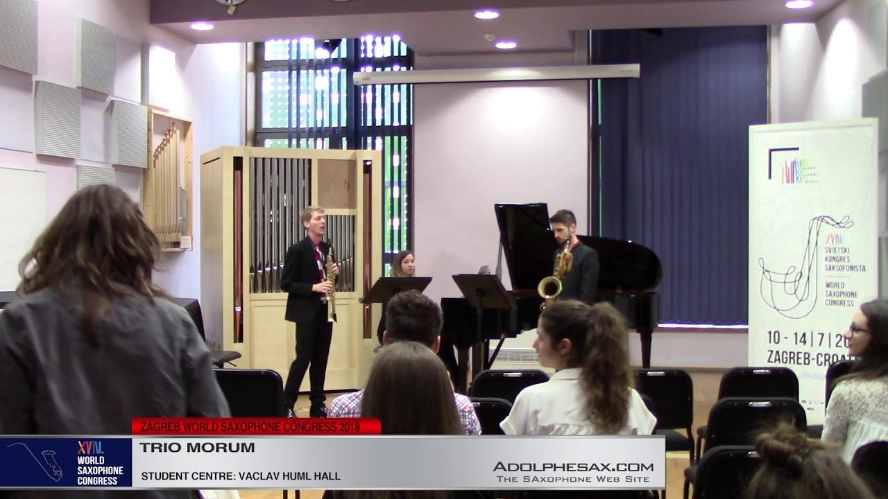Piano Trio in G Major by Claude Debussy   Trio Morum   XVIII World Sax Congress 2018 #adolphesax