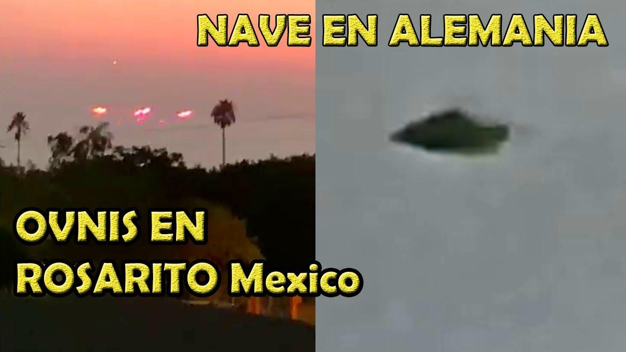 NAVE #OVNI En Alemania y Fra -ovni sobre honolulo HAWAll -  Y ovnis en Rosarito B.C Mexico