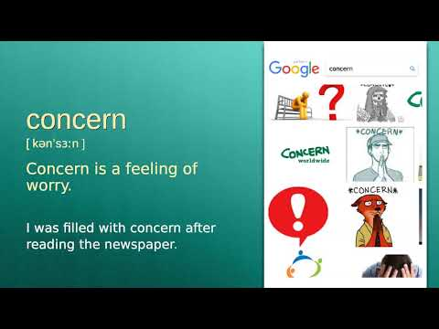 Concern : B2 Level English Vocabulary Lesson, Www.LipLix.com