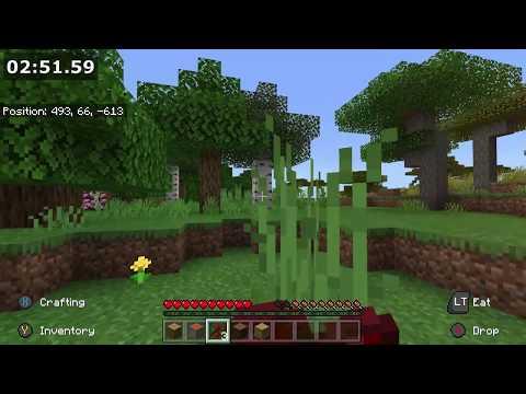 [OR] All Wood Types, Set Seed, Minecraft (BE/PE) Speedrun, 4m25s