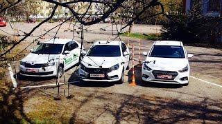 Skoda RAPID, Lada VESTA, Hyundai ACCENT/СОЛЯРИС: большой тест Автопанорамы