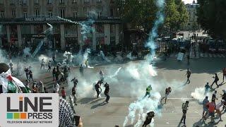 La manifestation interdite pour la Palestine dégénère / Paris - France 26 juillet 2014