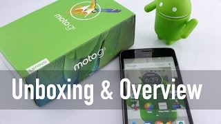 Moto G5 Smartphone Unboxing & Overview (Indian Unit)