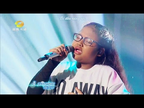 [Vietsub] Adinda - I Surrender @ Let's Sing Kids 2016 | Adinda《I Surrender》@《中国新声代》第四季