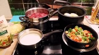 Печень куриная ,запечённая в духовке с овощами и наивкуснейшим  пюре на гарнир!!!
