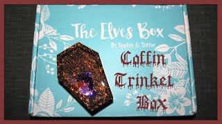 Watch Me Resin | Coffin Trinket Box | Sophie and Toffee October Elves Box