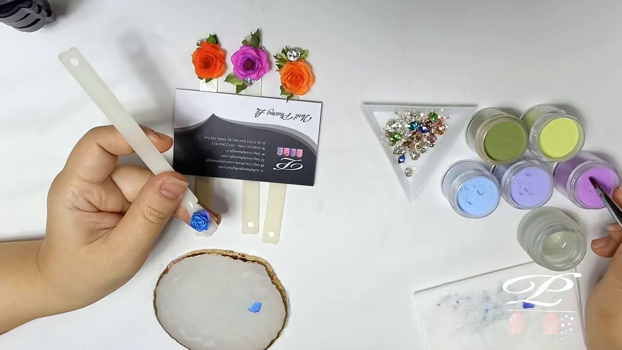 Kỹ thuật đắp hoa fantasy cao cấp Nail, đắp hoa bột fantasy nâng cao lên móng