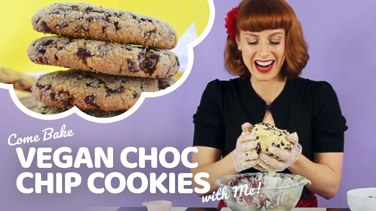 Vegan Choc Chip Cookie Recipe   Bake Vegan Stuff with Sara Kidd