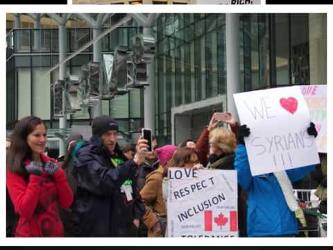 protest at trump tower  vancouver