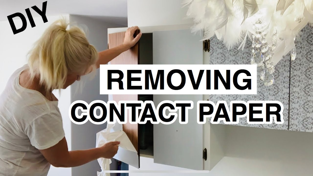 Removing Contact Paper From Kitchen, How To Remove Contact Paper From Wood Cabinets