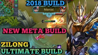 ZILONG UNSTOPPABLE BUILD | 100% BEST BUILD | ZILONG LATEST BUILD | ML ZILONG 2018 BUILD