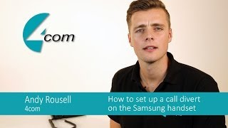 How to divert incoming calls using the Samsung business phone system